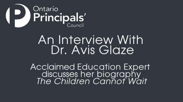 An Interview with Dr. Avis Glaze