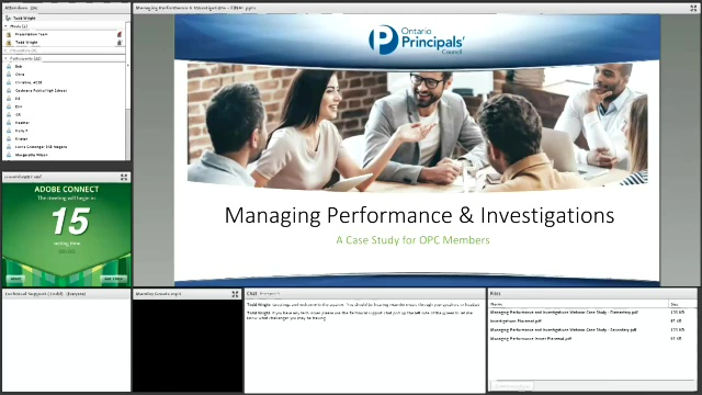 Resources for Managing Performance and Investigations